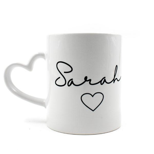 Heart Handle Mug Personalised