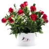Personalised Hat Box 20 Roses