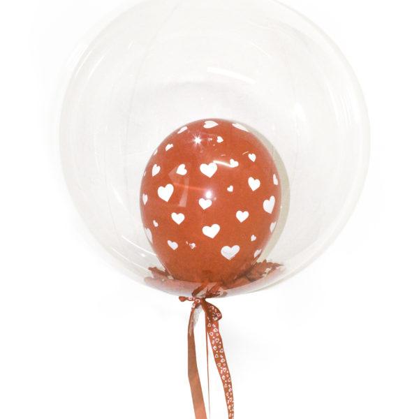 Bubble Balloon w Rose Petals