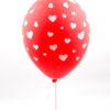 Latex Red with Hearts Helium