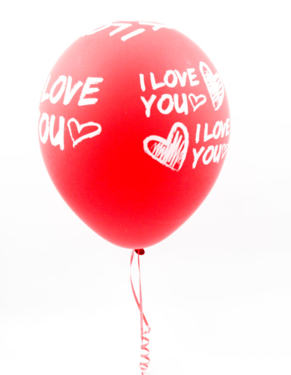 Latex I Love You Helium