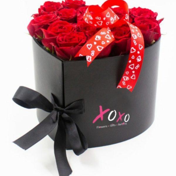 Red Rose & Chocolate Heart Box